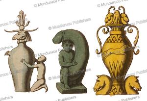 egyptian pre dynastic idols, angelo biasioli, 1820