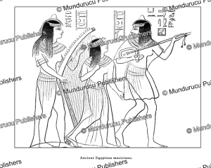 ancient egyptian musicians, egypt, august ramsthal, 1878