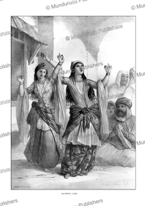 Ghawazi, or dancing girls. Rosetta, Egypt, E. Prisse D'Avennes, 1851f | Photos and Images | Travel
