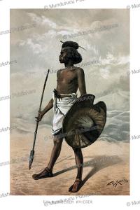 Nubian warrior, Egypt, Bruno Iglhein, 1894 | Photos and Images | Travel