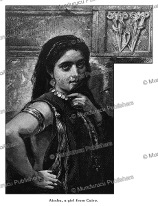 The beautiful Aischa from Cairo with tattoo marks, Egypt, Gustav Richter, 1878 | Photos and Images | Travel