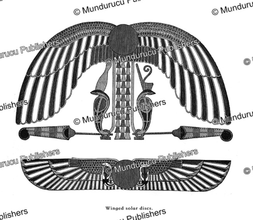 First Additional product image for - Winged solar disks, Egypt, August Ramsthal, 1878