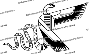 egyptian winged uraeus snake, l. ronner, 1934