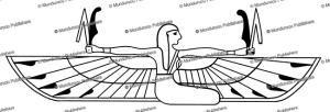 winged human figure, egypt, l. ronner, 1934