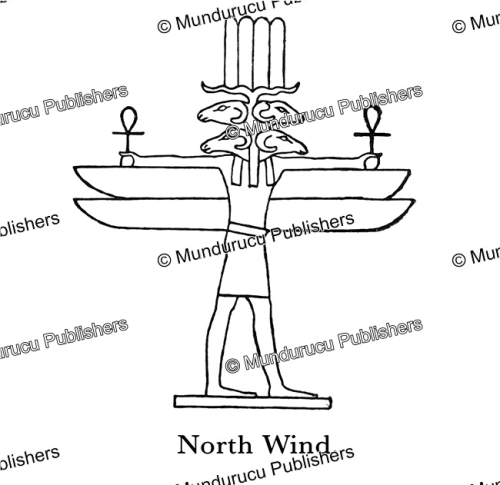 First Additional product image for - Egyptian god of the North Wind, Wallis Budge, 1904
