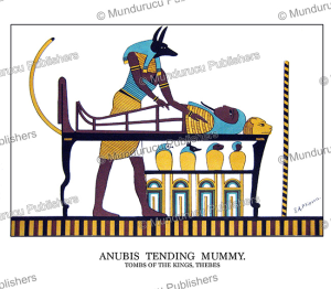 Anubis, the ancient Egyptian god of the dead, tending a mummy, Edward Arthur Phipson | Photos and Images | Travel