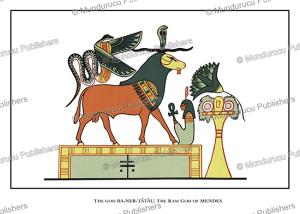 Ba-Neb-Tatau, the Ram god of the city Mendes, Egypt, Wallis Budge, 1904 | Photos and Images | Travel