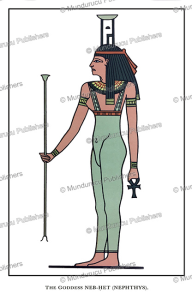nephthys or nebet-het, an ancient egyptian goddess and protector of the mummy, wallis budge, 1904