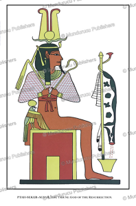 ptah-sekar-osiris, the ancient egyptian god of resurrection, egypt, wallis budge, 1904