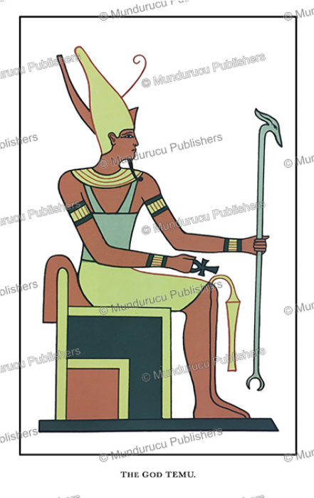 First Additional product image for - Temu, the evening appearance of Ra, the king of gods, Egypt, Wallis Budge, 1904-65