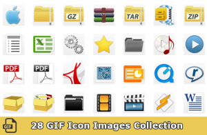 28 GIF Icon Images Collection | Other Files | Graphics