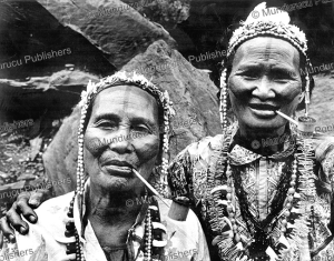 atayal women with face tattoo, formosa  (taiwan), cor jaring, 1967.