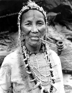 atayal woman with face tattoo, formosa  (taiwan), cor jaring, 1967