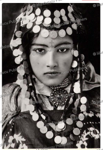 dancing berber girl of the ouled nai¨l tribe, algeria, lehnert & landrock, 1921