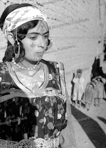 berber woman with face tattoos from the aure`s, algeria