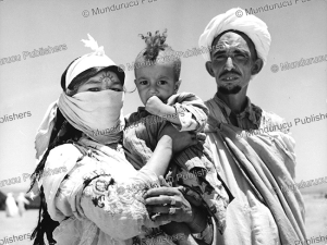 berber family from the middle atlas, morocco, 1954