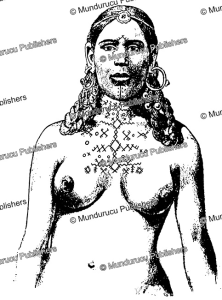chest tattoo patterns of braber berber women, j. herber, 1949