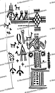 leg tattoo pattern of a berber from tunis, carl arriens, 1914