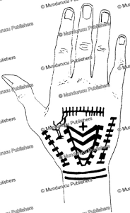 hand tattoo pattern of a berber from tunis, carl arriens, 1914