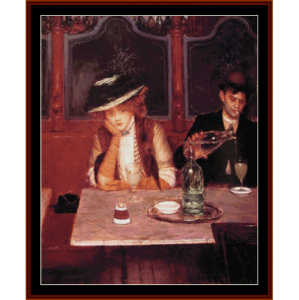 Absinthe Drinkers - Beraud cross stitch pattern by Cross Stitch Collectibles | Crafting | Cross-Stitch | Other