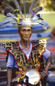 Dayak man with throat tattoo, Borneo, 1961 | Photos and Images | Travel