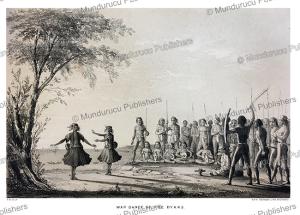 Dayak war-dance, Borneo, Borneo, Frank S. Marryat, 18481 | Photos and Images | Travel