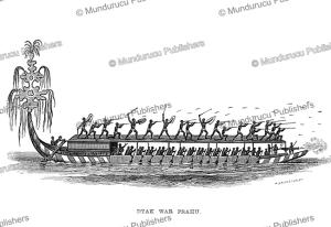 Dayak war prauw, Borneo, Frank S. Marryat, 18481 | Photos and Images | Travel