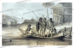 Group of Sagai (Suku) Dayaks, Borneo, Belcher, 1848 | Photos and Images | Travel