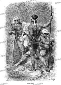 Dayak warriors, Alphonse de Neuville, 1871 | Photos and Images | Travel
