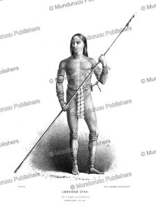 loondoo (lundu) dayak of sarawak, borneo, frank s. marryat, 18481
