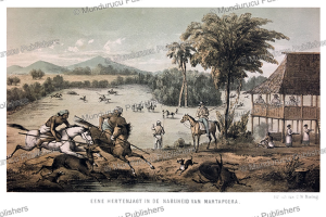 deer-hunt near martapura, borneo, c.a.l.m. schwaner, 1854