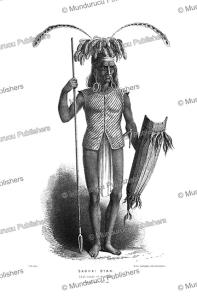 Saghai (Suku) Dayak, Borneo, Frank S. Marryat, 18481 | Photos and Images | Travel