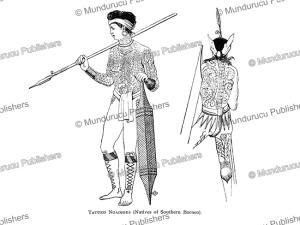 Tattooed Ngajus warrior, Borneo, C.A.L.M. Schwaner, 1854 | Photos and Images | Travel