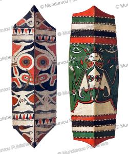 Kahajan and Dusun-Dayak shields, Borneo, J.D.E. Schmeltz, 1890 | Photos and Images | Travel