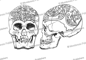 decorated skulls from the east coast of borneo, henry ling roth, 1896-2