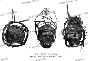 Head trophies hung from the ceiling in longhouses, Borneo, Henry Ling Roth, 1896   Photos and Images   Travel