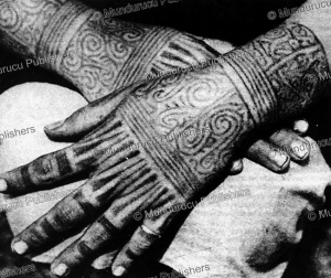 hands of a kayan woman, borneo, 1930