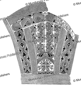 Kenyah thigh tattoo design, Borneo, A.W. Nieuwenhuis, 1904 | Photos and Images | Travel
