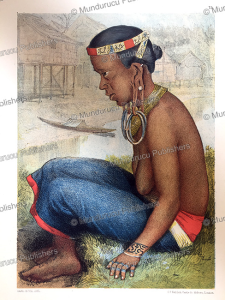 Soelou Landang, a Tring Dayak woman in ceremonial dress, Borneo, Carl Bock, 1881   Photos and Images   Travel
