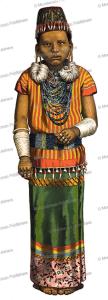 Toekau, chiefess of the Ma-Toewan Dayak, Borneo, J. D. E. Schmeltz, 1890 | Photos and Images | Travel