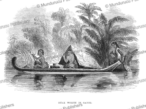 Dayak women in a canoe, Borneo, Frank S. Marryat, 18481 | Photos and Images | Travel
