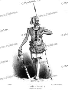 illanoan (malaysian origin) pirate, borneo, frank s. marryat, 18481