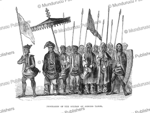Procession of the Sultan of Gunung Tabor, Borneo, Frank S. Marryat, 1848 | Photos and Images | Travel