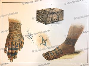 Dayak tattoo patterns, Borneo, Carl Bock, 1881 | Photos and Images | Travel