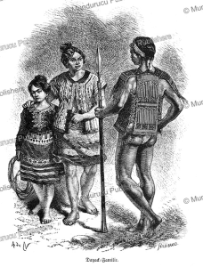 Dayak family, Alphonse de Neuville, 1871 | Photos and Images | Travel