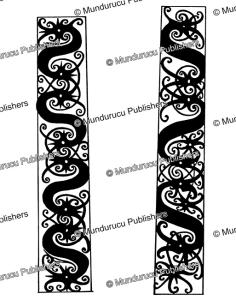 kenyah leg designs, borneo, sharon thomas, 1968