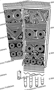 kayan forearm pattern for a high ranked woman, borneo, charles hose, 1912