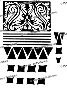 kayan female hand pattern, borneo, a.w. nieuwenhuis, 1904