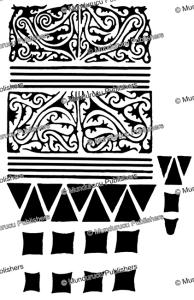 long glat hand design, borneo, a.w. nieuwenhuis, 1904