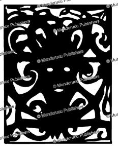 kayan tegulun human face design, borneo, sharon thomas, 1968